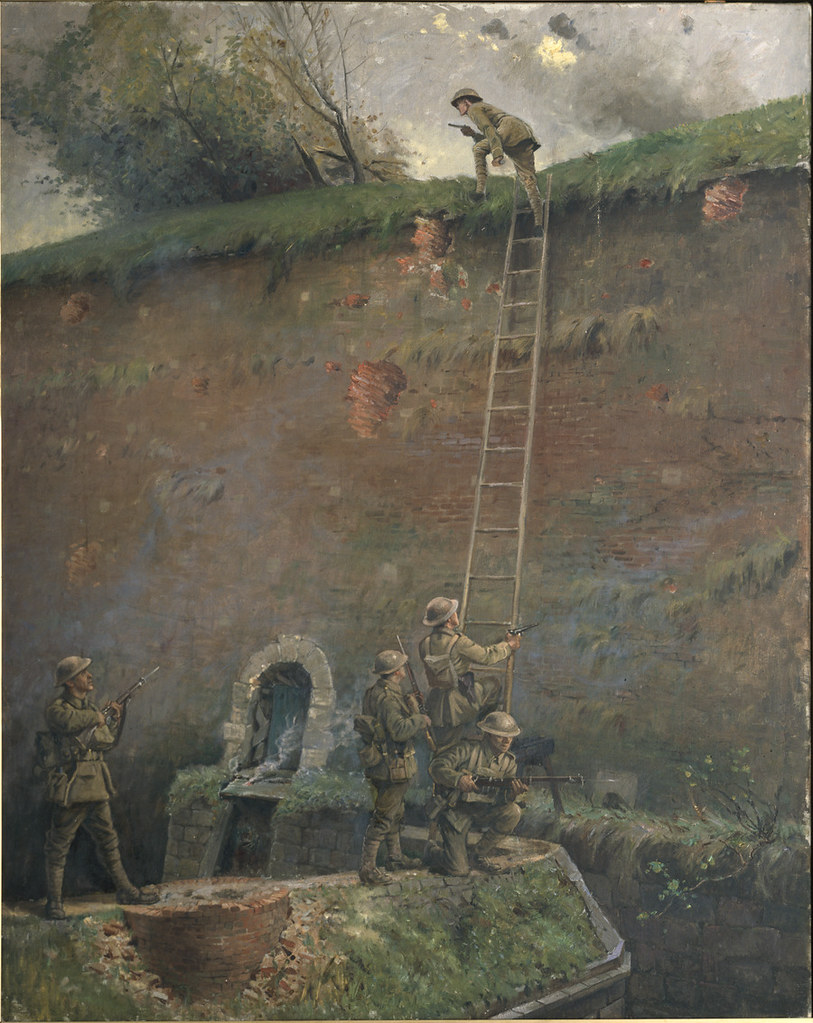 The scaling of the walls of Le Quesnoy by George Edmund Butler