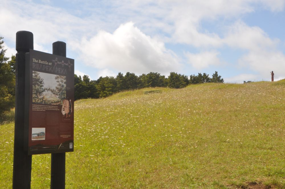 The battle site at Ruapekapeka, Northland